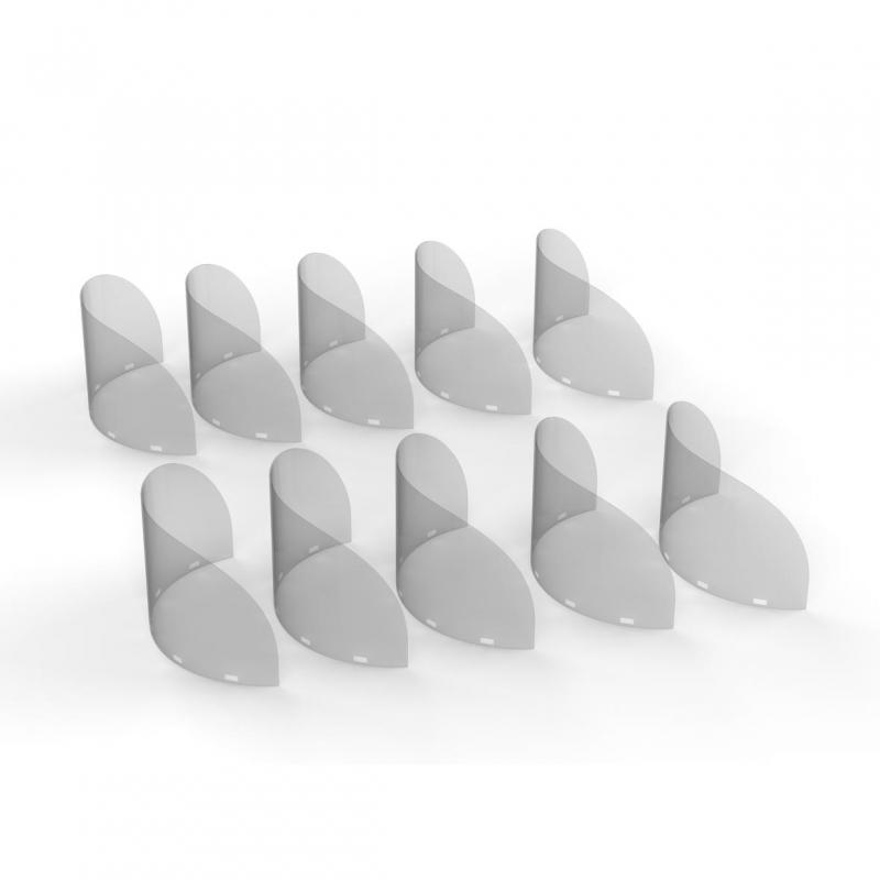 Ersatzvisier für Mund-Nasen-Schild Gastronomie, 10er Set