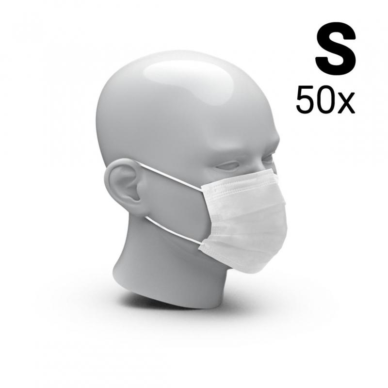 Mund-Nasen-Schutz 3-Ply 50er Set, Größe S